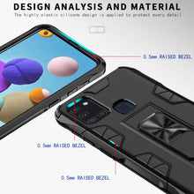 Load image into Gallery viewer, 2020 Luxury Magnet Kickstand Car Holder Ring Phone Case For SAMSUNG A21S