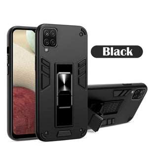 2021 Upgraded Invisible Bracket Armor Warrior 2-in-1 Case For Samsung Galaxy A12