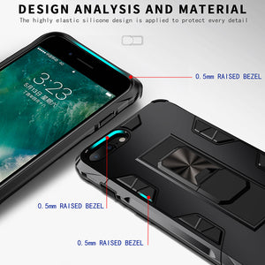2020 Luxury Magnet Kickstand Car Holder Ring Phone Case For iPhone 7 PLUS