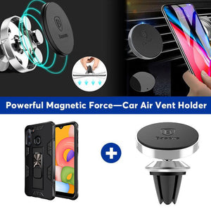 2020 Luxury Magnet Kickstand Car Holder Ring Phone Case For SAMSUNG A21