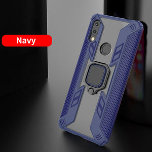 Warrior Style Magnetic Ring Kickstand Phone Cover For Redmi Note7