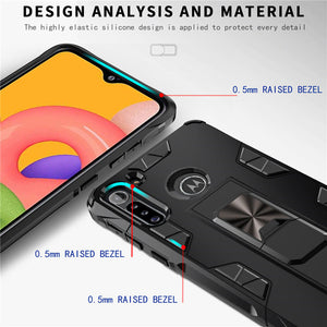2020 Luxury Magnet Kickstand Car Holder Ring Telefon Case for MOTO G8 POWER Lite
