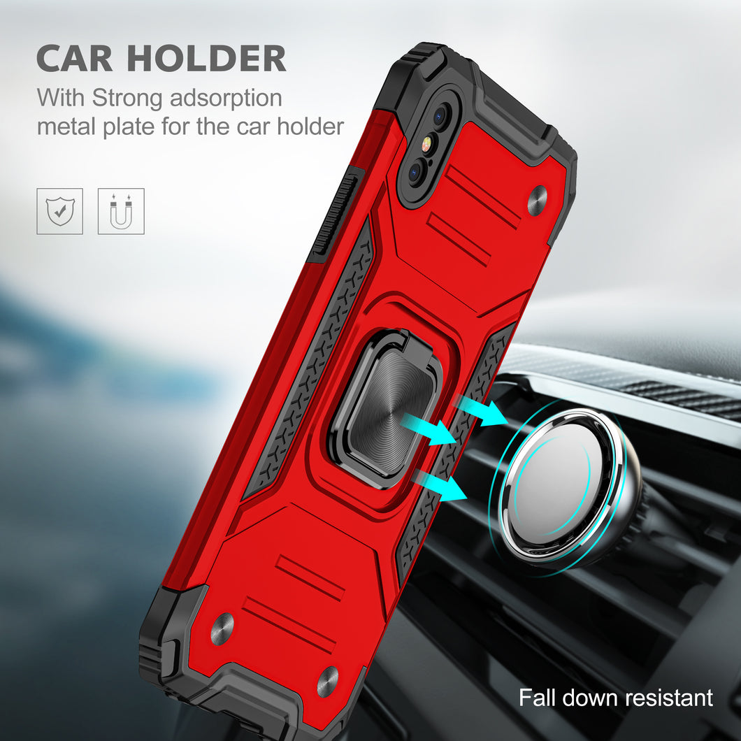 2021 Vehicle-mounted Shockproof Armor Phone Case  For iPhone X