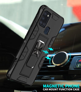 2020 Luxury Magnet Kickstand Car Holder Ring Phone Case For SAMSUNG A21S