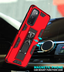 2021 Luxury Magnet Kickstand Car Holder Ring Phone Case For SAMSUNG S20FE