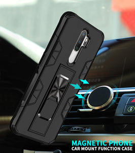 2021 Luxury Magnet Kickstand Car Holder Ring Phone Case For OPPO A9(2020)