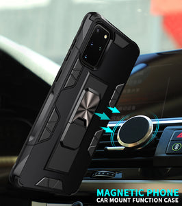 2020 Luxury Magnet Kickstand Car Holder Ring Phone Case For SAMSUNG S20 PLUS