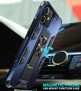 2020 Luxury Magnet Kickstand Car Holder Ring Phone Case For iPhone 11