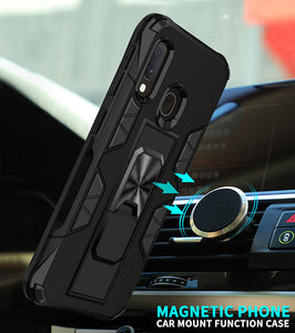 2020 Luxury Magnet Kickstand Car Holder Ring Phone Case For SAMSUNG A20E