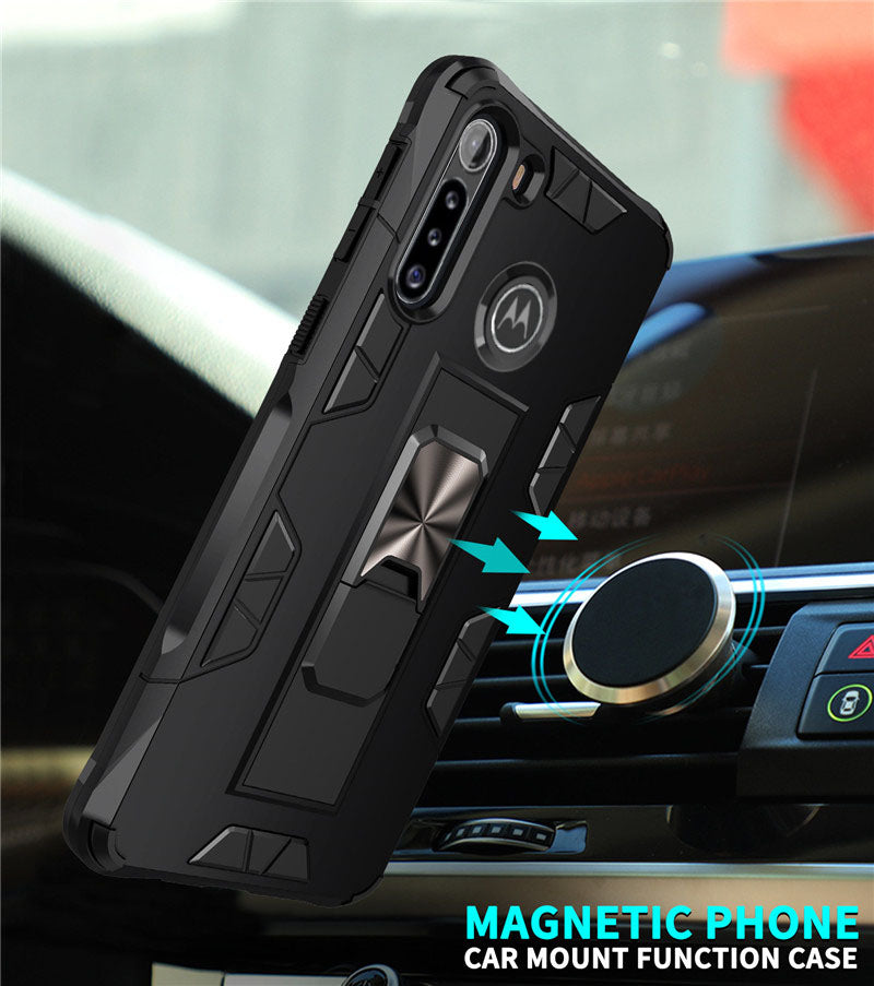 2020 Luxury Magnet Kickstand Car Holder Ring Phone Case For MOTO G8 POWER Lite