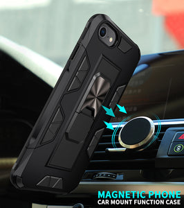 2020 Luxury Magnet Kickstand Car Holder Ring Phone Case For iPhone 8