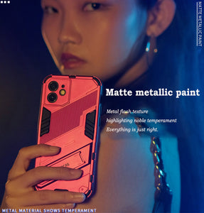 2021 New Punk Style Stand Phone Case for iPhone