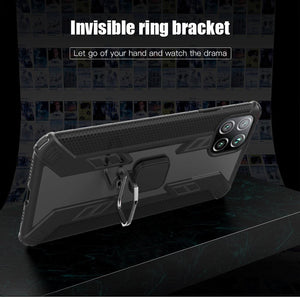 Warrior Style Magnetic Ring Kickstand Phone Cover For Huawei P40 Lite