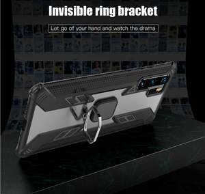 Warrior Style Magnetic Ring Kickstand Phone Cover für Huawei P30 Pro