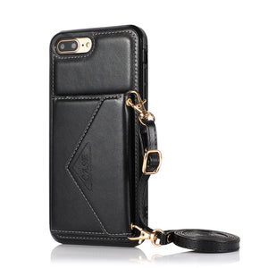 Triangle Crossbody Multifunctional Wallet Card Leather Case For iPhone 6/6S/6PLUS/6SPLUS