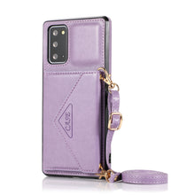 Load image into Gallery viewer, 【2021 New】 Triangle Crossbody Multifunctional Wallet Card Leather Case For Samsung NOTE20/20ULTRA