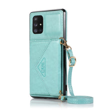 Load image into Gallery viewer, 【2021 New】 Triangle Crossbody Multifunctional Wallet Card Leather Case For Samsung A71