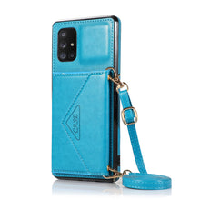 Load image into Gallery viewer, 【2021 New】 Triangle Crossbody Multifunctional Wallet Card Leather Case For Samsung A51