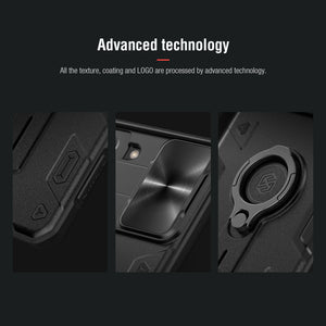 【Black rhino】Luxury Sliding Lens Protection ring holder case for Samsung S21PLUS 5G