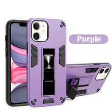 Load image into Gallery viewer, 2021 Upgraded Invisible Bracket Armor Warrior 2-in-1 Case For iPhone 11 Series