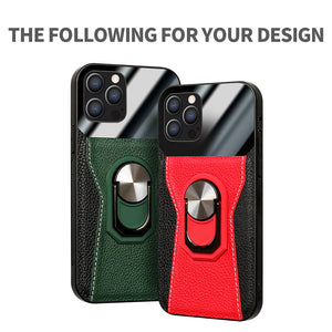 2021 Luxury magnetic car lychee leather phone case For iPhone