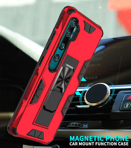 2020 Luxury Magnet Kickstand Car Holder Phone Case For XIAOMI NOTE 10 Lite