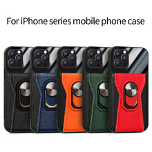 Load image into Gallery viewer, 2021 Luxury magnetic car lychee leather phone case For iPhone