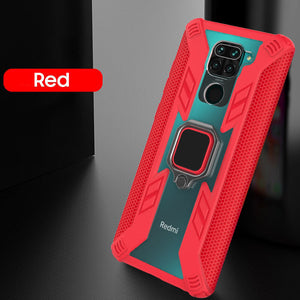 Warrior Style Magnetic Ring Kickstand Phone Cover For Redmi Note9