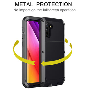 Tank Doom Armor Waterproof Metal Aluminum Phone Case For Samsung Note10