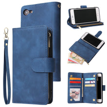 Load image into Gallery viewer, Soft Leather Zipper Wallet Flip Multi Card Slots Case For iPhone 7/8