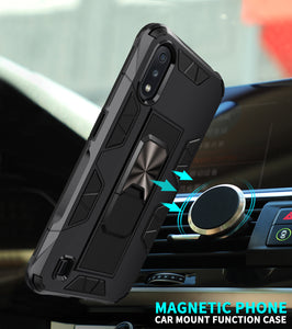 2020 Luxury Magnet Kickstand Car Holder Ring Phone Case For SAMSUNG A01