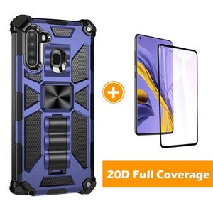 2021 Luxury Armor Shockproof With Kickstand For Samsung Galaxy A21(US)