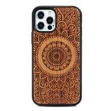 Load image into Gallery viewer, Solid wood embossed phone case for iPhone 12/12Pro/12Pro Max/12 mini