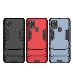 2020 New  Shockproof Special Armor Bracket Phone Case For Samsung A21S / A31