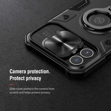 Load image into Gallery viewer, 【Black rhino】Luxury Sliding Lens Protection ring holder case for iPhone 12 mini