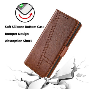 Trapezoidal Side Buckle Soft Leather Wallet case For Samsung Galaxy A71