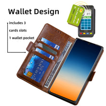 Load image into Gallery viewer, Trapezoidal Side Buckle Soft Leather Wallet case For Samsung Galaxy A51