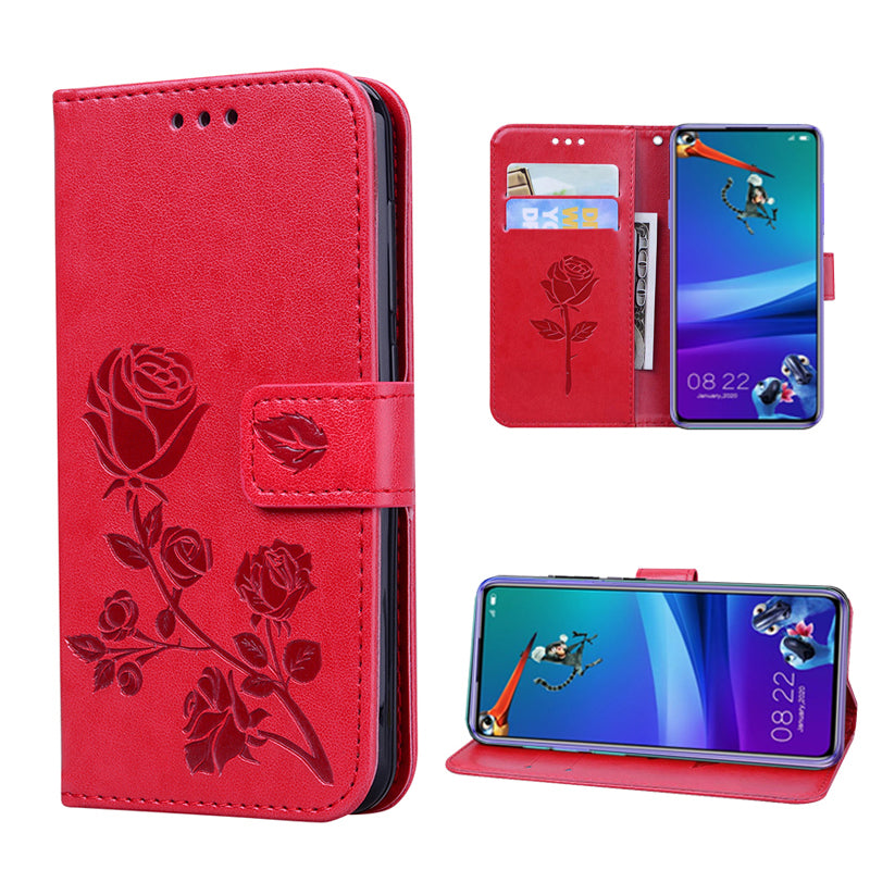 2021 Upgraded 3D Embossed Rose Wallet Phone Case For SAMSUNG S20ULTRA