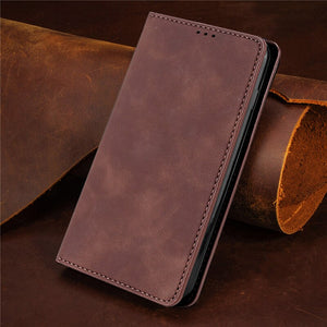 PU Leather Vintage Card Holder Flip Cover Magnetic Cases For Samsung Galaxy A Series