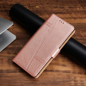 Trapezoidal Side Buckle Soft Leather Wallet case For iPhone X/XS/XR/XSmax