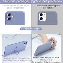 Load image into Gallery viewer, Luxury soft liquid silicone sleeve ultra-thin for iPhone case