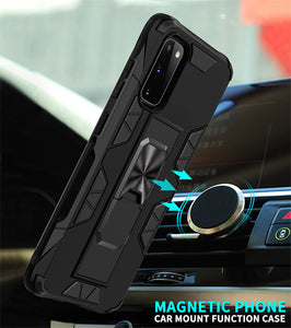 2020 Luxury Magnet Kickstand Car Holder Ring Phone Case For SAMSUNG S20 Series