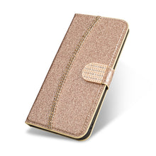 Load image into Gallery viewer, 2021 New Bling Glitter Diamond Wallet Flip Case For Samsung