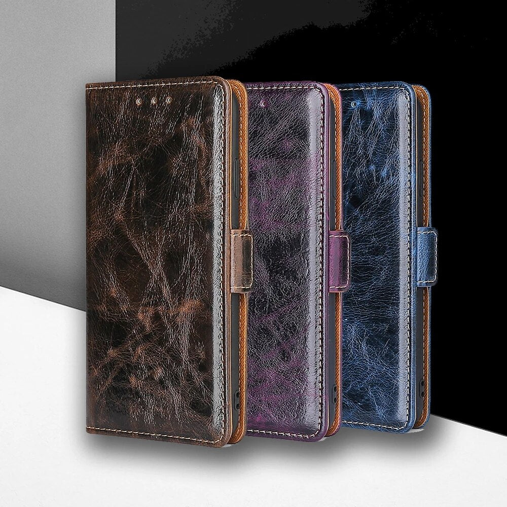 Flip Magnetic Soft Leather Wallet Cover Case For Samsung S21Ultra