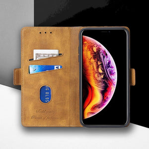 Flip Magnetic Soft Leather Wallet Cover Case For OnePlus 8