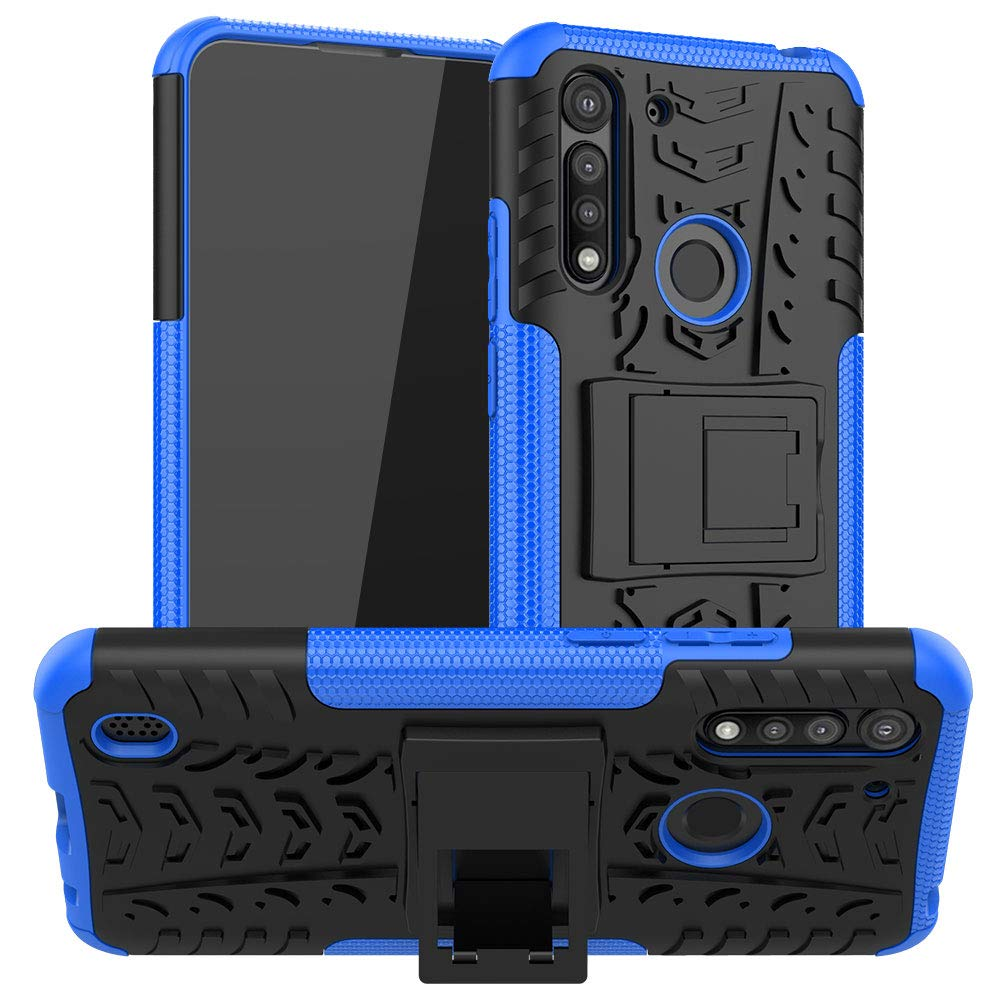 Rubber Hard Armor Cover Case For Moto G8 Power Lite