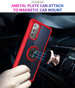 2021 Ultra-thin Four-Corner Anti-Fall Magnetic Ring Case For Samsung Note 20/Note 20Ultra