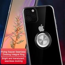 Load image into Gallery viewer, Transparent Soft Silicone Magnetic Ring Holder Phone Case For iPhone