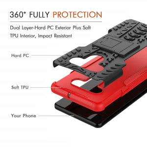 Rubber Hard Armor Cover Case For LG