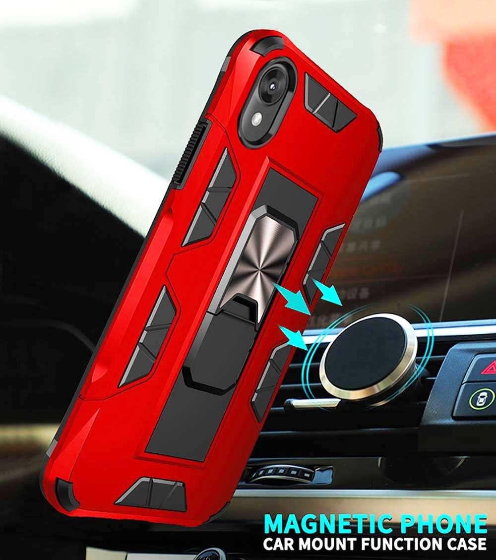 2020 Luxury Magnet Kickstand Car Holder Phone Case For MOTO E6/E6S